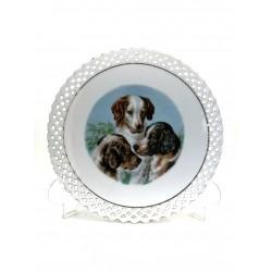 Plato de porcelana alemana