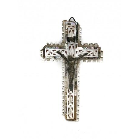 Cruz de Jerusalén de nácar