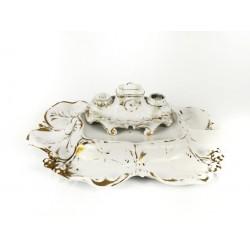 Escribanía Art Decó de cristal