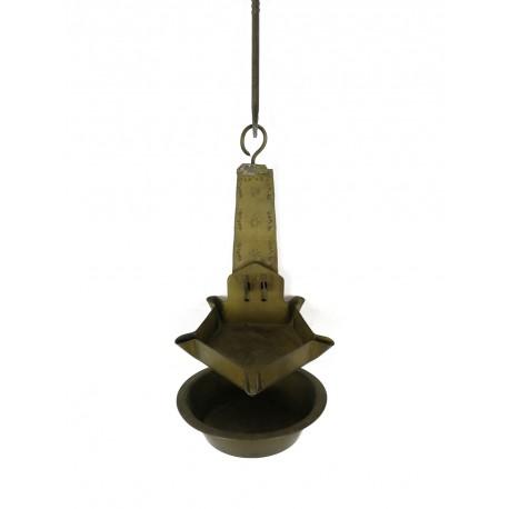 Antigua lamparilla de latón