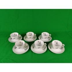 Juego de 6 piezas de café de porcelana Bidasoa