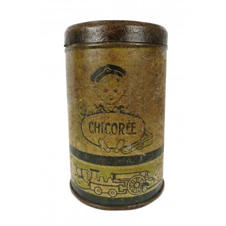 Caja de lata antigua.