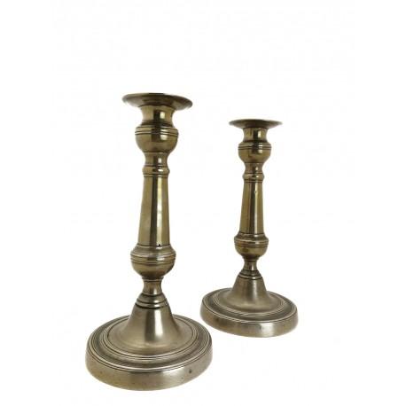 Candeleros de bronce